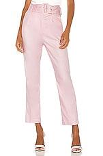 Camila Coelho Quinn Trouser in Pink Lemonade