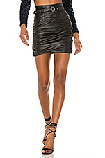 Camila Coelho Cami Leather Skirt in Black
