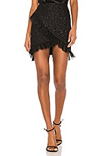 Camila Coelho Aletzia Ruffle Mini Skirt in Black