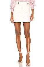 Camila Coelho Isabela Mini Skirt in Ivory