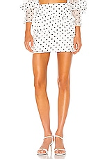 Camila Coelho Sadie Mini Skirt in White & Black