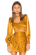 Camila Coelho Gabriella Top in Gold