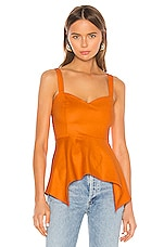 Camila Coelho Rosalie Top in Desert Orange