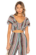 Camila Coelho Emilia Top in Multi Stripe