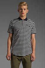 CS Tyler Polo in Navy Stripe