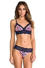 Dolce Printed Soft Bra in Bellini & Navy