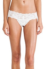 Never Say Never Cutie LR Thong in Fluro White