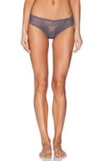 Trenta Lace Thong in Anthracite