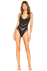 Cosabella Bisous Sleeveless Teddy in Black