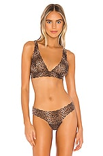 Cosabella Pixie Printed Tall Triangle Bra in Natural Animal
