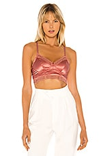 Cosabella Madeline Cropped Bustier in Soft Sunset