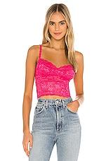Cosabella Shortie Crop Cami in Hot Pink