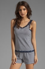 Giulietta Stripe Cami in Navy Blue/White