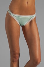 Dream Thong in Venetian Green/White