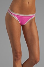 Dream Thong in Shocking Pink/White