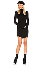 COTTON CITIZEN The Melbourne Turtleneck Mini Dress in Jet Black