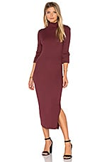 Melbourne Midi Dress in Burgundy