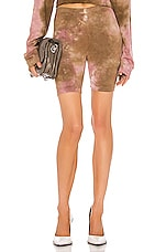 COTTON CITIZEN The Milan Biker Short in Rose & Java Mirage