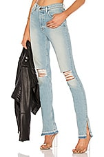 COTTON CITIZEN High Split Jean in Light Vintage