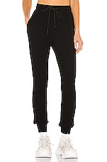 COTTON CITIZEN The Monaco Thermal Jogger in Jet Black