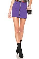 COTTON CITIZEN Mini Zip Skirt in Dark Purple