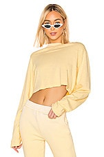 COTTON CITIZEN The Tokyo Crop Long Sleeve Tee in Daffodil