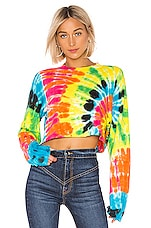 COTTON CITIZEN Tokyo Crop Long Sleeve Tee in Prism