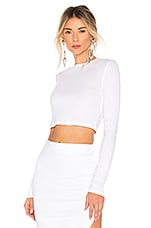 COTTON CITIZEN Verona Crop Long Sleeve in White