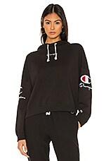 Champion Sleeve Logo Hoodie in Black
