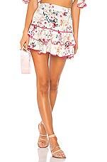 Charo Ruiz Ibiza Fera Floral Short Skirt in White Floral Print