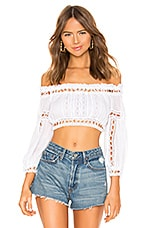 Charo Ruiz Ibiza Alova Top in White