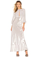 Cynthia Rowley Silver Lake Gown in Silver