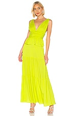 Cynthia Rowley Parker Maxi Dress in Lime
