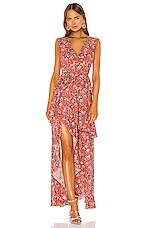 Cynthia Rowley Savannah Tiered Maxi Dress in Orange Multi