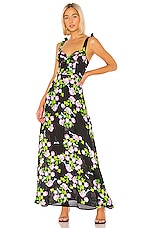 Cynthia Rowley Ten Rose Silk Maxi Dress in Rose Floral