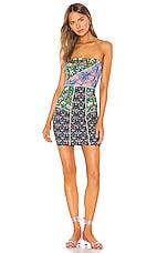 Cynthia Rowley Devon Neoprene Patchwork Dress in Multi Floral
