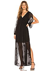 Chaser Beaded Star Maxi Dress in Black