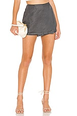 Chaser Asymmetrical Wrap Skort in Scout