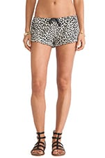 Ruffle Animal Print Short in Lace