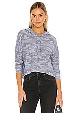 Chaser Cozy Knit Sweatshirt in Camo Print