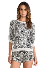 Reverse Animal Print Pullover in Lace