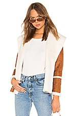 Chaser Faux Fur Lined Suede Jacket in Whiskey