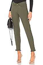 Chaser Vintage Canvas Lace Up Frayed Utility Pant in Safari