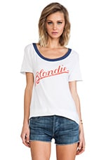 Chaser Blondie Script Tee in White