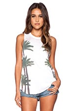 Chaser Palms Muscle Tank in White