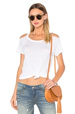 T-SHIRT DECONSTRUCTED COLD SHOULDER