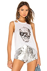 Chaser Painted Skull Tank in White