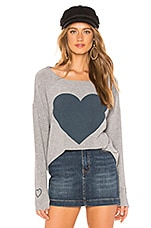 Chaser Heart Tee in Heather Grey