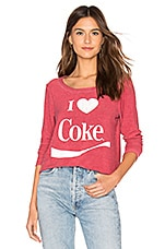 Chaser I Heart Coke Pullover in Red