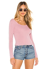 Chaser Double Scoop Crop Top in Frenchy